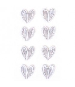STICKERS QUILLING COEURS BLANCS
