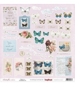 PAPIER HAPPINESS - BUTTERFLIES SCRAPBERRY'S