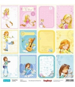 PAPIER CARD 1 - YOUNG & FREE SCRAPBERRY'S